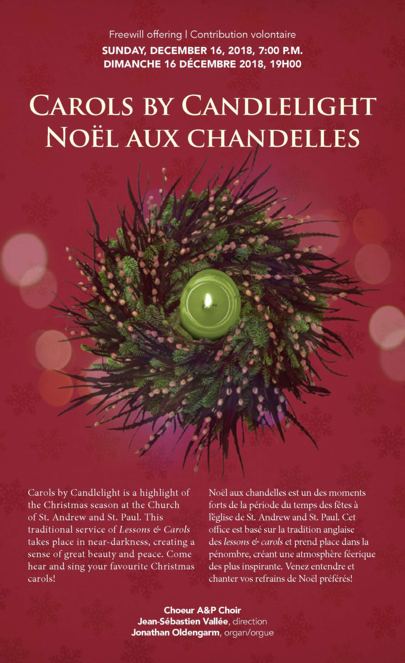 chorale noel montreal 2018 Music   The Church of St. Andrew and St. Paul chorale noel montreal 2018